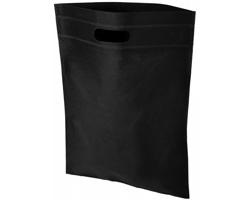 Netkaná kongresová taška LINTY s vyseknutou rukojetí - černá