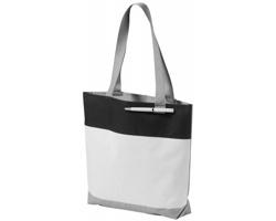 Konferenční taška BALMS s poutkem na pero - bílá / černá
