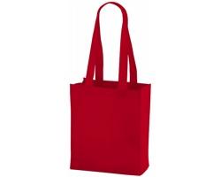 Netkaná nákupní taška SCARY s dlouhými uchy - červená