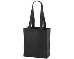 Netkaná nákupní taška SCARY s dlouhými uchy - černá