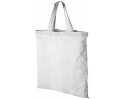 Bavlněná taška LAVER s krátkými držadly do ruky - bílá
