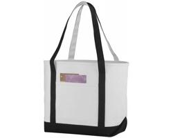 Lodičková taška z hrubé bavlny FACTA - přírodní / černá