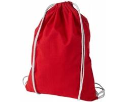 Kvalitní bavlněný batůžek LISPS se stahovací šňůrkou - červená