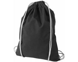 Kvalitní bavlněný batůžek LISPS se stahovací šňůrkou - černá