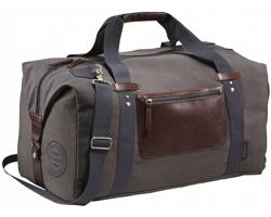 Stylová cestovní taška z bavlněného plátna JUGS - šedá