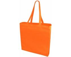 Velká bavlněná taška PACED se zpevněným dnem - oranžová