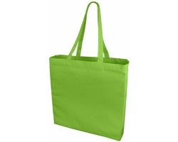 Velká bavlněná taška PACED se zpevněným dnem - jemně zelená
