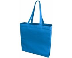 Velká bavlněná taška PACED se zpevněným dnem - modrá