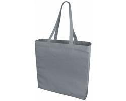 Velká bavlněná taška PACED se zpevněným dnem - šedá