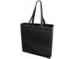 Velká bavlněná taška PACED se zpevněným dnem - černá