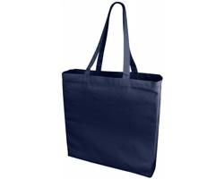 Velká bavlněná taška PACED se zpevněným dnem - námořní modrá