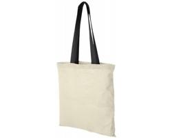 Bavlněná taška ALASKA s barevnými uchy - přírodní / černá
