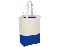 Bavlněná nákupní taška POPITO - přírodní / královská modrá