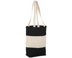 Bavlněná nákupní taška LA PLAYA s dlouhými uchy - přírodní / černá