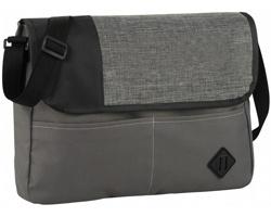 Konferenční taška přes rameno CENT se zkrácenou klopou - šedá / černá