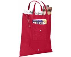 Netkaná skládací nákupní taška STUDLEY - červená
