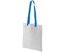 Polyesterová nákupní taška SNARL s barevnými uchy - bílá / modrá