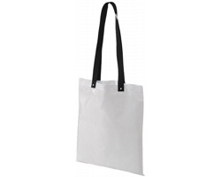 Polyesterová nákupní taška SNARL s barevnými uchy - bílá / černá