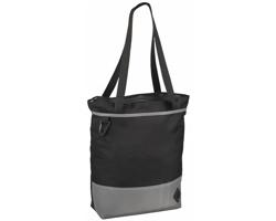 Polyesterová taška CAKYTA se zipem - černá / šedá