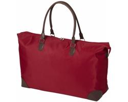Víkendová taška ROUES s kovovými nožičkami - červená