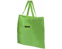 Polyesterová skládací nákupní taška PEKOE s kroužkem na klíče - jemně zelená