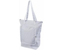 Skládací chladicí taška BONER s dlouhými ramenními popruhy - bílá