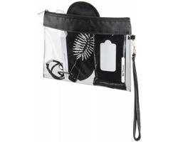 Transparentní kosmetická taška VAUNT s odepínacím poutkem - transparentní čirá