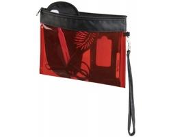 Transparentní kosmetická taška VAUNT s odepínacím poutkem - transparentní červená- transparentní červená