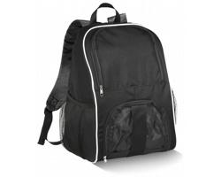 Polyesterový fotbalový batoh FOEHN s prostorem pro uložení míče - černá