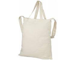Bavlněná nákupní taška VASTITY s krátkými uchy a ramenním popruhem - přírodní