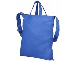 Bavlněná nákupní taška VASTITY s krátkými uchy a ramenním popruhem - královská modrá