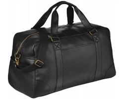 Cestovní víkendová taška z imitace kůže KOTOS - černá