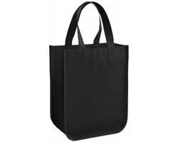 Malá laminovaná nákupní taška DIMS s otevřeným hlavním prostorem - černá
