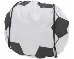 Polyesterový stahovací batoh ARSONIUM s potiskem fotbalového míče - bílá / černá