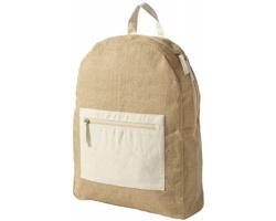 Jutový batoh PEACE s bavlněnými zádovými popruhy - přírodní