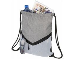 Sportovní stahovací batoh SALPA se síťovými kapsami - bílá