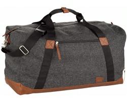 Značková sportovní taška Field & Co VOYAGER DRAWSTRING v designu vintage - tmavě šedá