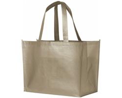 Laminovaná nákupní taška RECD s lesklým kovovým povrchem