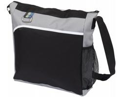 Polyesterová taška přes rameno MUGGERS - černá