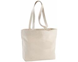 Bavlněná nákupní taška BOND na zip - přírodní