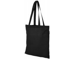 Bavlněná nákupní taška MACKU s otevřeným hlavním prostorem - černá