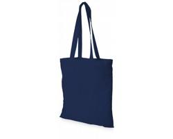 Bavlněná nákupní taška MACKU s otevřeným hlavním prostorem - námořní modrá