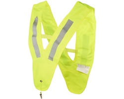 Dětská bezpečnostní vesta DRIPT ve tvaru V - neonově žlutá