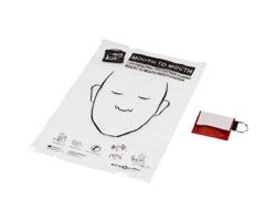 Přívěsek na klíče KPR s resuscitační rouškou - červená