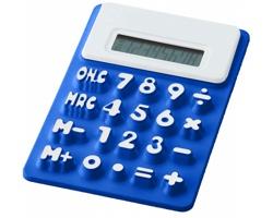 Ohebná kalkulačka  s pamětí SHREVEPORT s reliefními čísly - královská modrá