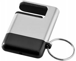 Plastové čistítko displeje a držák telefonu AYERS - stříbrná / černá