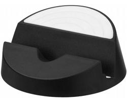 Plastový stojánek na chytrý telefon DINGS - černá / bílá
