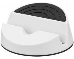 Plastový mediální stojánek DINGS - bílá / černá