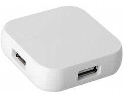 Hranatý USB hub HARL se 4 porty - bílá