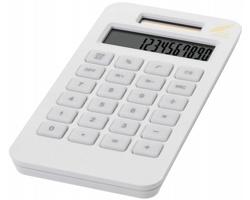 Ekologická solární kalkulačka POP z kukuřice - bílá